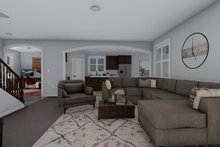 Architectural House Design - Craftsman Interior - Family Room Plan #1060-52