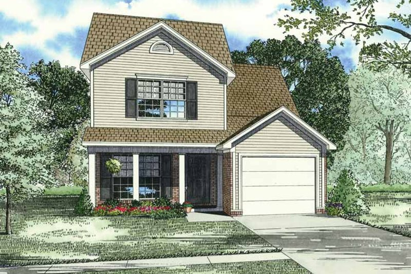 Traditional Exterior - Front Elevation Plan #17-3338 - Houseplans.com