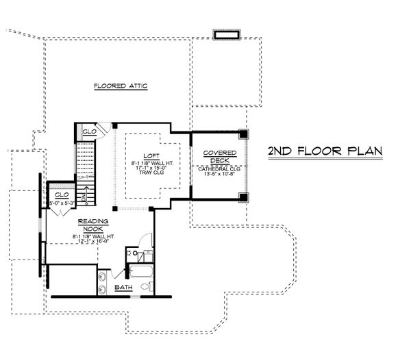 Architectural House Design - Ranch Floor Plan - Upper Floor Plan #1064-89