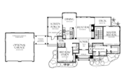 European Style House Plan - 4 Beds 4 Baths 2263 Sq/Ft Plan #929-891 Floor Plan - Main Floor