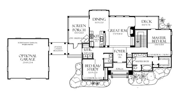 European Floor Plan - Main Floor Plan Plan #929-891