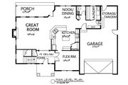 Traditional Style House Plan - 3 Beds 2.5 Baths 3092 Sq/Ft Plan #133-108 Floor Plan - Lower Floor Plan