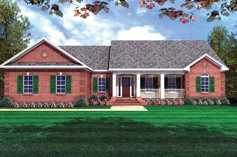 Colonial Exterior - Front Elevation Plan #21-406