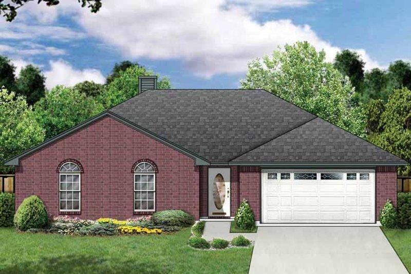 Ranch Exterior - Front Elevation Plan #84-663 - Houseplans.com
