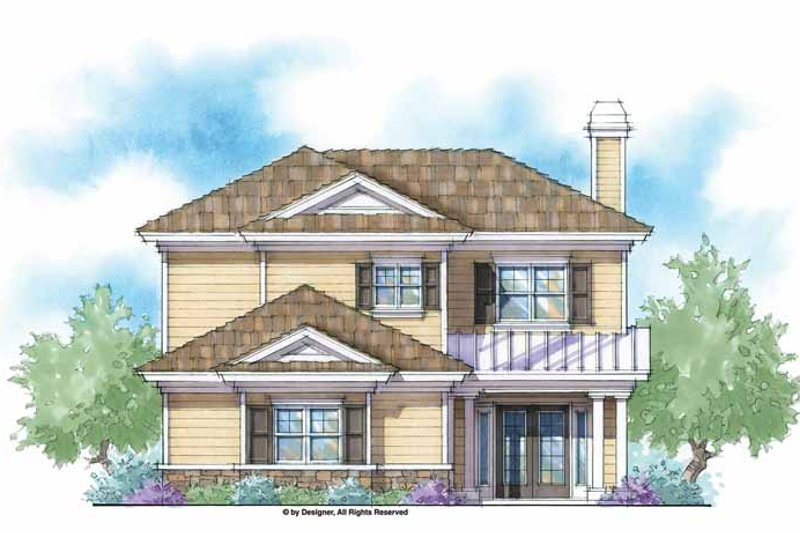 Country Exterior - Front Elevation Plan #938-43