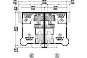Traditional Style House Plan - 6 Beds 4 Baths 3798 Sq/Ft Plan #25-4515 Floor Plan - Lower Floor Plan