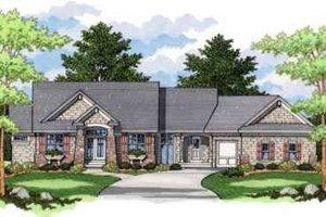 Craftsman Exterior - Front Elevation Plan #51-219