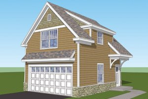 Dream House Plan - Craftsman Exterior - Front Elevation Plan #1029-66