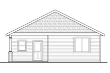 House Plan Design - Cottage Exterior - Rear Elevation Plan #124-978