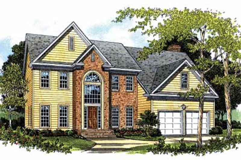 House Plan Design - Colonial Exterior - Front Elevation Plan #453-479