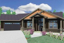 House Plan Design - Prairie Exterior - Front Elevation Plan #509-350