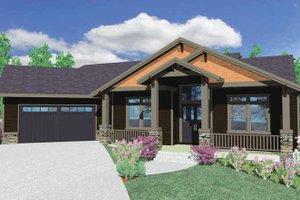House Plan Design - Prairie Exterior - Front Elevation Plan #509-350