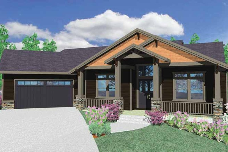 Prairie Exterior - Front Elevation Plan #509-350