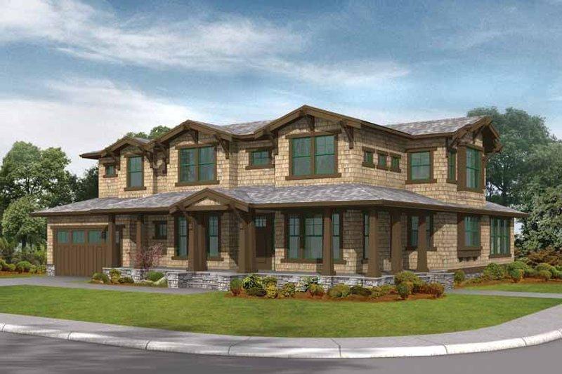 House Plan Design - Craftsman Exterior - Front Elevation Plan #132-261