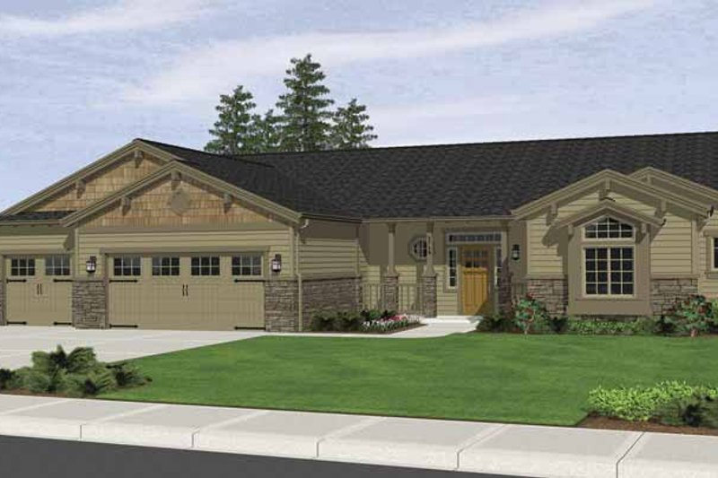 Ranch Exterior - Front Elevation Plan #943-6