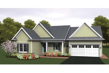 Ranch Exterior - Front Elevation Plan #1010-30