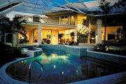Mediterranean Style House Plan - 4 Beds 5.5 Baths 5464 Sq/Ft Plan #930-101 Exterior - Rear Elevation