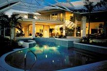 Architectural House Design - Mediterranean Exterior - Rear Elevation Plan #930-101