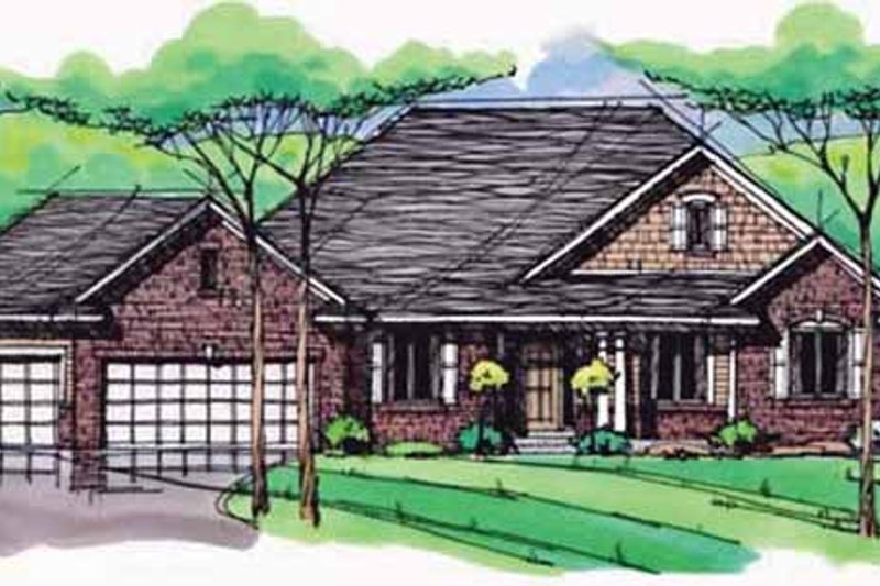 Dream House Plan - European Exterior - Front Elevation Plan #51-988