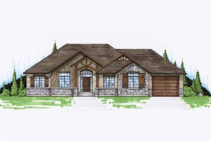 Craftsman Exterior - Front Elevation Plan #945-63