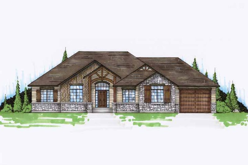 Architectural House Design - Craftsman Exterior - Front Elevation Plan #945-63