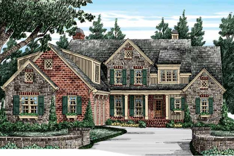 European Exterior - Front Elevation Plan #927-416