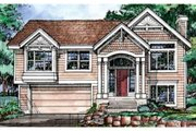 Traditional Style House Plan - 3 Beds 2 Baths 1663 Sq/Ft Plan #320-368 Exterior - Front Elevation