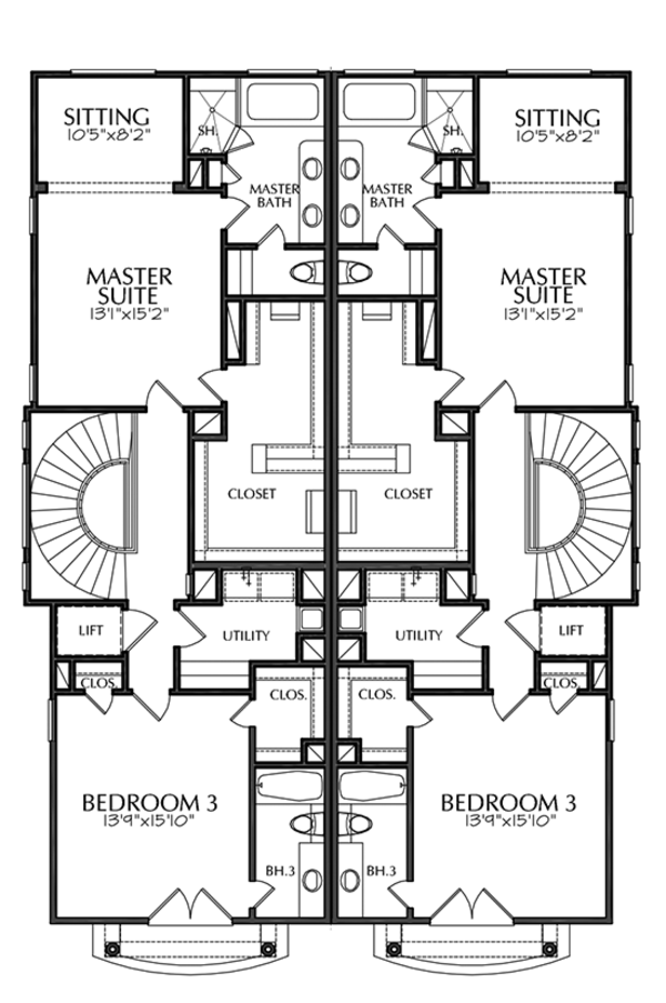Mediterranean Floor Plan - Other Floor Plan Plan #1021-16