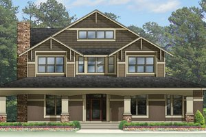 Craftsman Exterior - Front Elevation Plan #1058-79