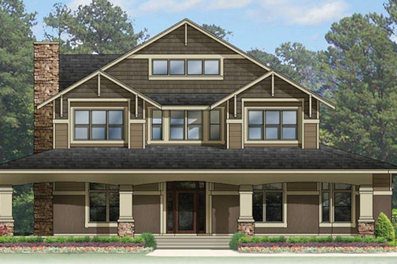 Craftsman Exterior - Front Elevation Plan #1058-79 - Houseplans.com