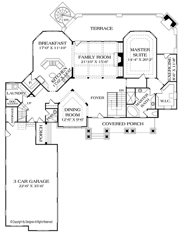 Craftsman Floor Plan - Main Floor Plan Plan #453-633