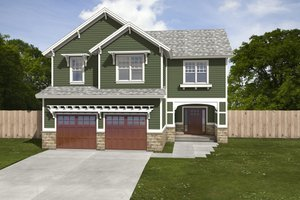 House Plan Design - Traditional Exterior - Front Elevation Plan #497-3