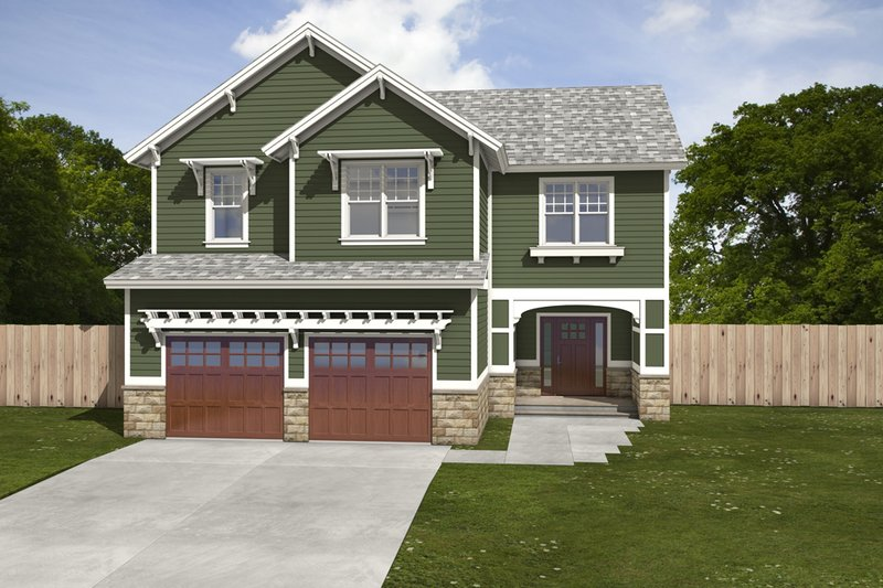House Blueprint - Traditional Exterior - Front Elevation Plan #497-3