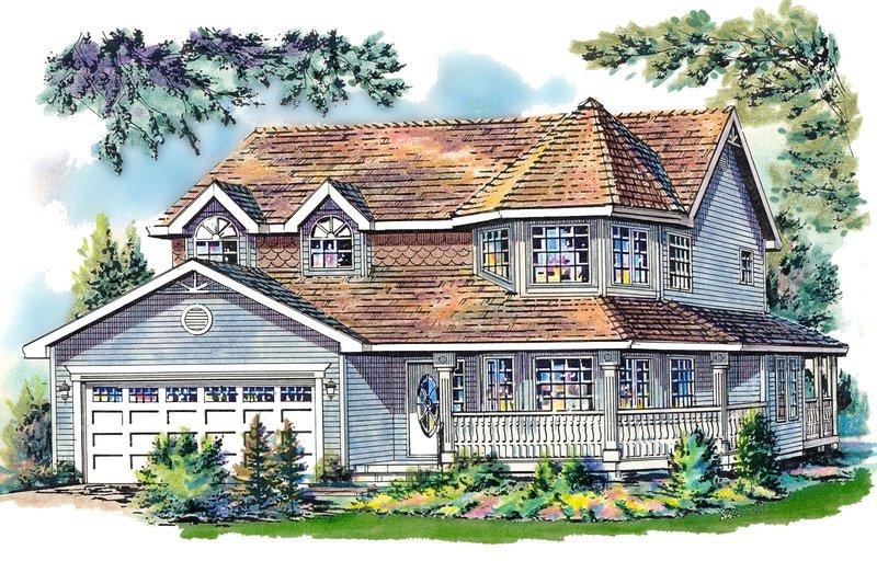 Architectural House Design - Victorian Exterior - Front Elevation Plan #18-245