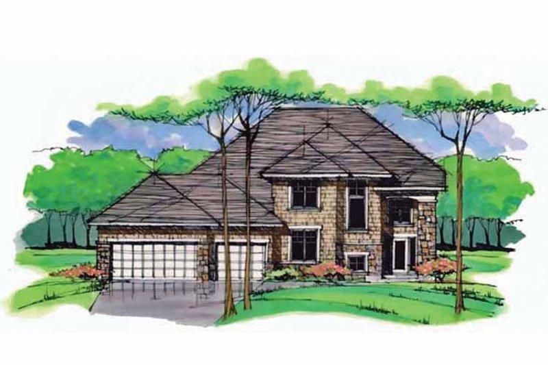 Colonial Exterior - Front Elevation Plan #51-1001 - Houseplans.com