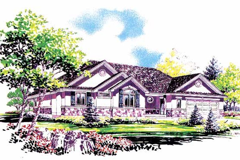 Country Exterior - Front Elevation Plan #308-260