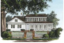 Architectural House Design - Country Exterior - Front Elevation Plan #137-327