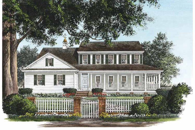 Country Exterior - Front Elevation Plan #137-327 - Houseplans.com