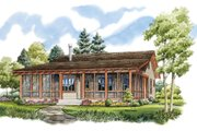 Country Style House Plan - 2 Beds 2 Baths 1031 Sq/Ft Plan #942-13 Exterior - Front Elevation