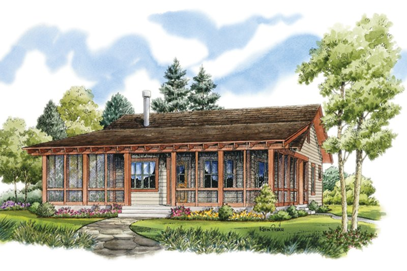 Country Exterior - Front Elevation Plan #942-13 - Houseplans.com