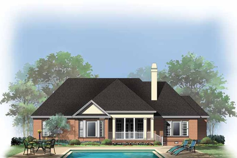 Ranch Exterior - Rear Elevation Plan #929-301 - Houseplans.com