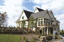 Architectural House Design - European Exterior - Rear Elevation Plan #928-25
