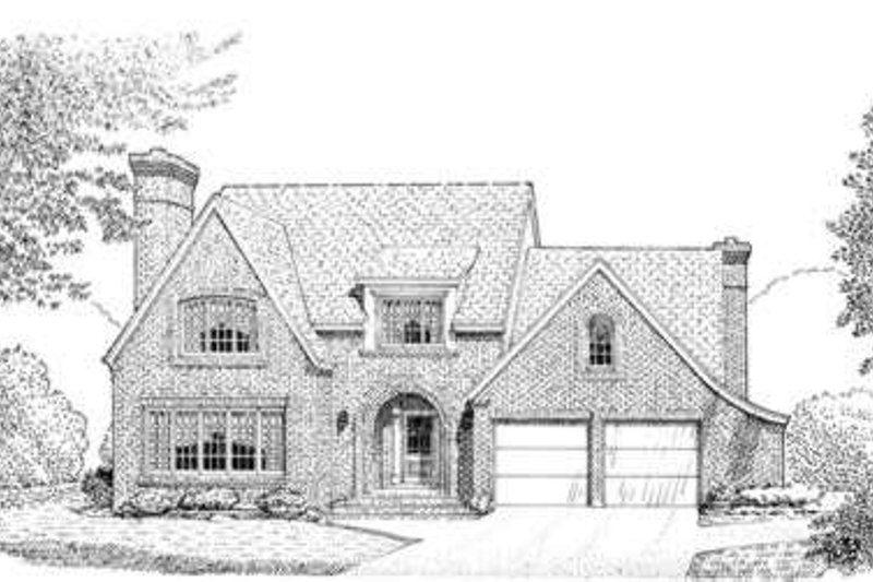 Dream House Plan - European Exterior - Front Elevation Plan #410-232