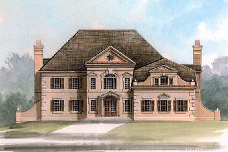 European Exterior - Front Elevation Plan #119-306