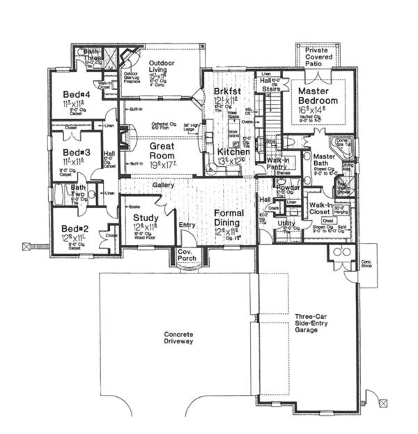 Home Plan - Country Floor Plan - Main Floor Plan #310-1269
