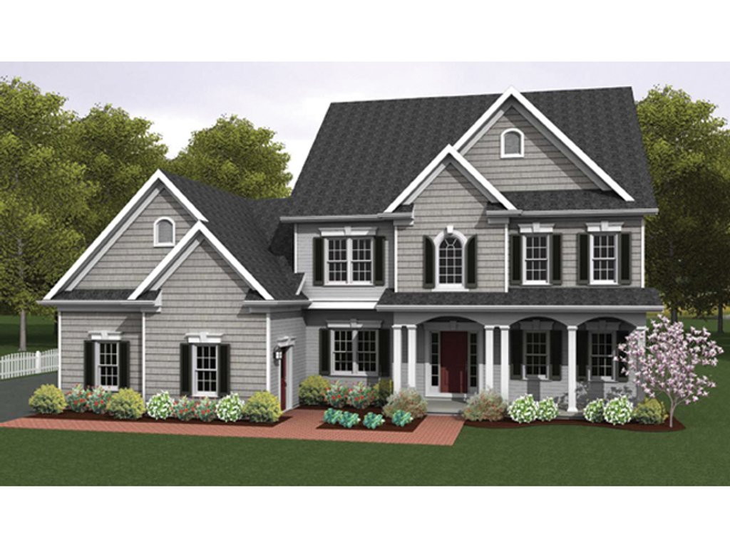Colonial style house plan 4 beds 2 5 baths 2234 sq ft for Colonial homes magazine house plans
