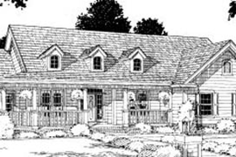 Country Exterior - Front Elevation Plan #20-199