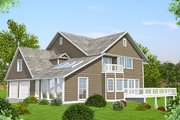 Country Style House Plan - 3 Beds 3.5 Baths 3062 Sq/Ft Plan #117-878 Exterior - Front Elevation