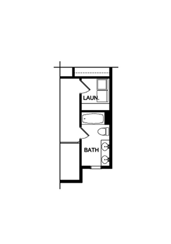 Colonial Floor Plan - Upper Floor Plan Plan #1010-197