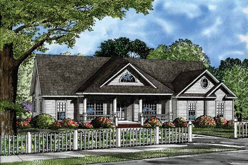 Country Exterior - Front Elevation Plan #17-3229